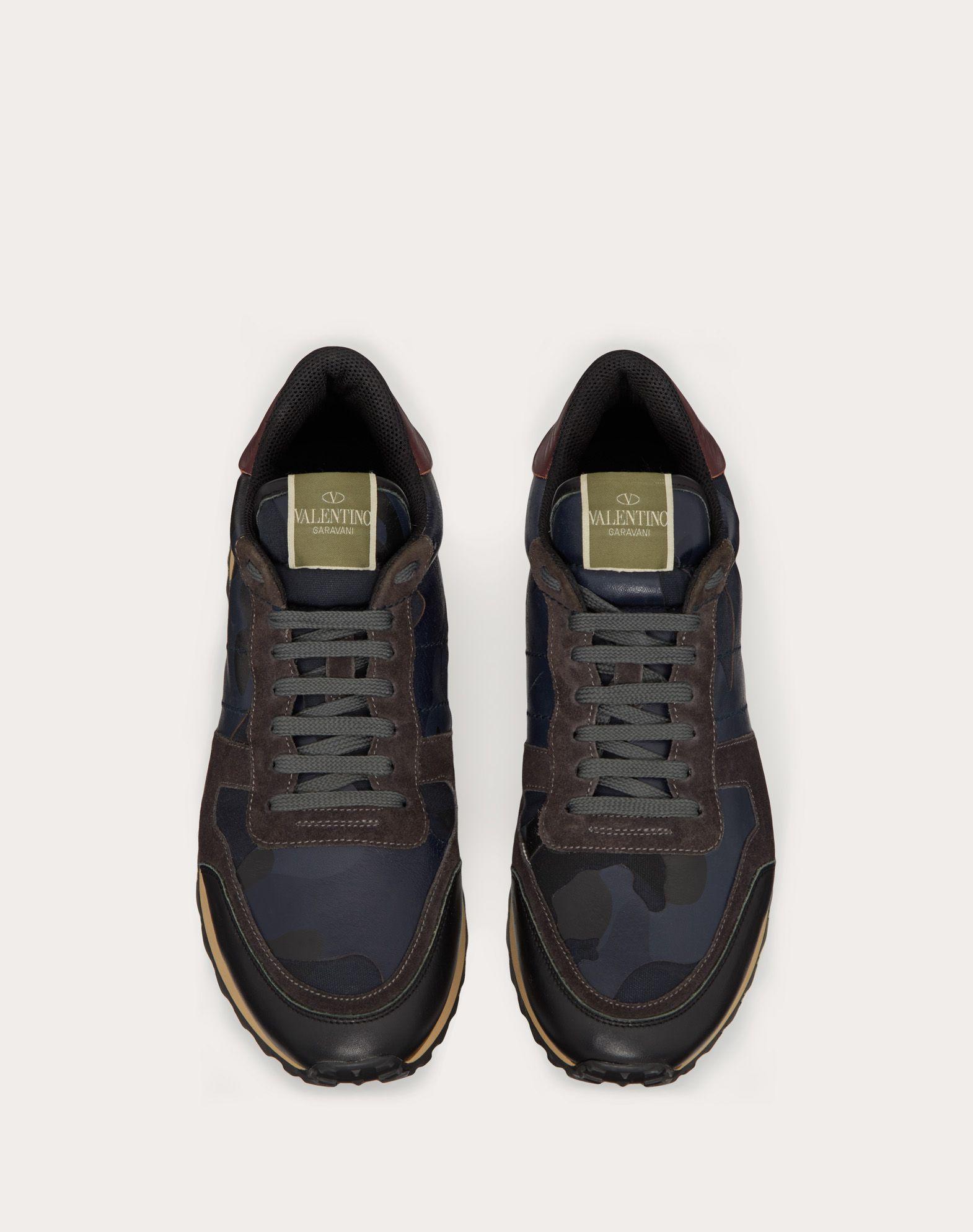 VALENTINO GARAVANI UOMO Camouflage Rockrunner Sneaker LOW-TOP SNEAKERS U e