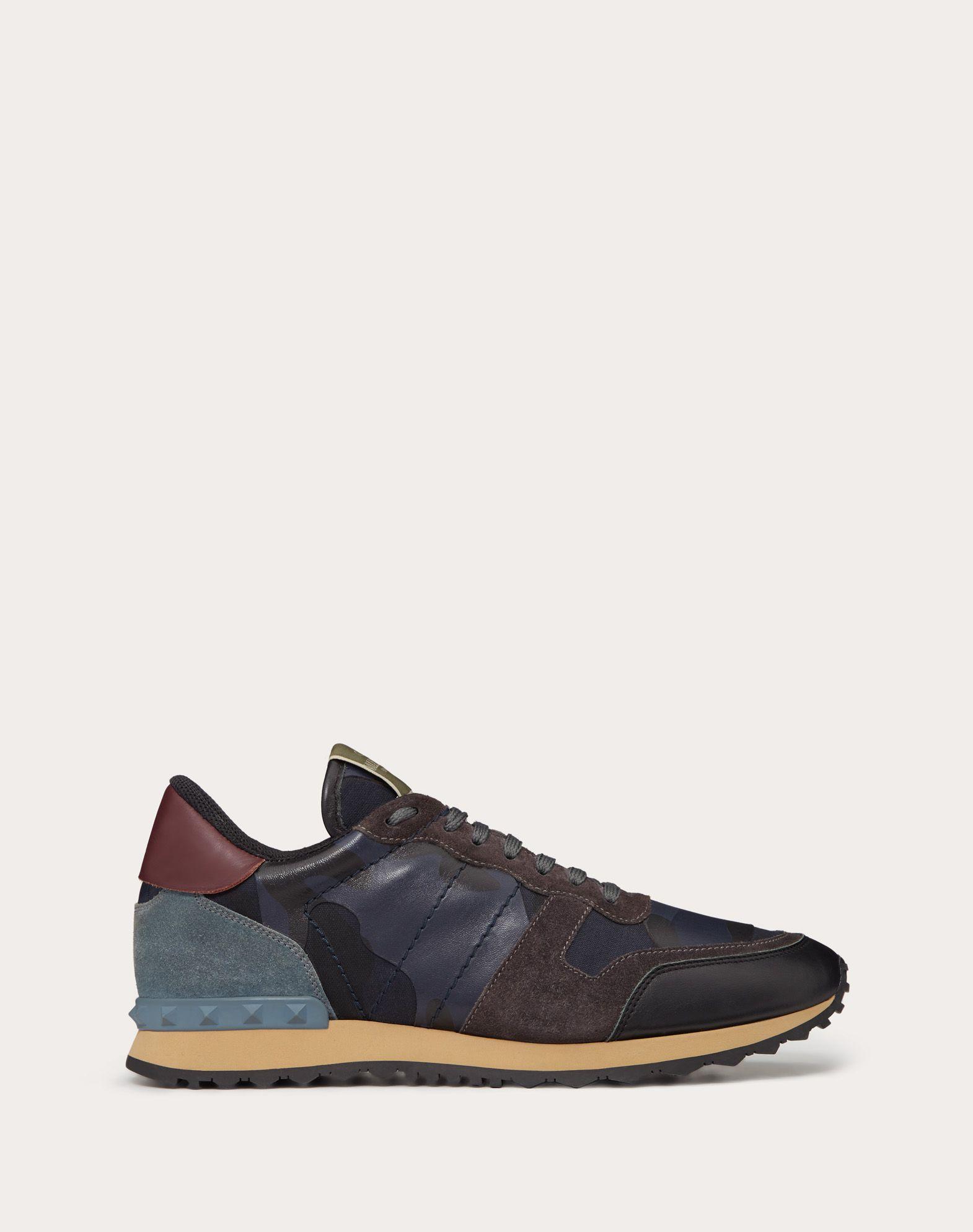 VALENTINO GARAVANI UOMO Camouflage Rockrunner Sneaker LOW-TOP SNEAKERS U f