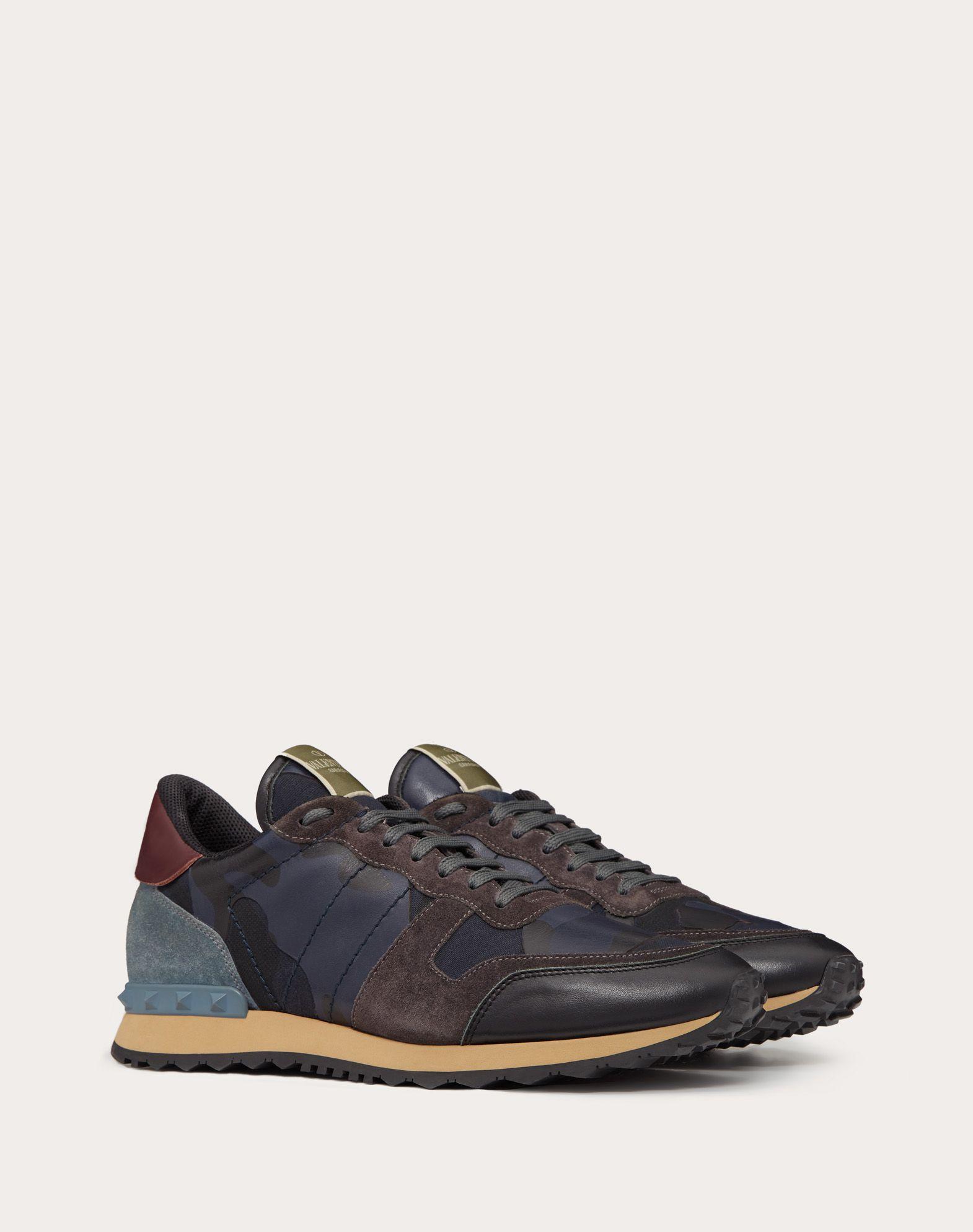 VALENTINO GARAVANI UOMO Camouflage Rockrunner Sneaker LOW-TOP SNEAKERS U r