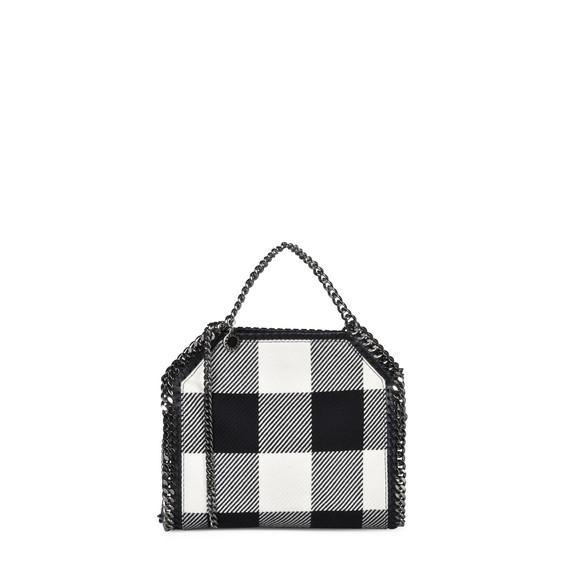 Mini tote bag Falabella avec motif à carreaux