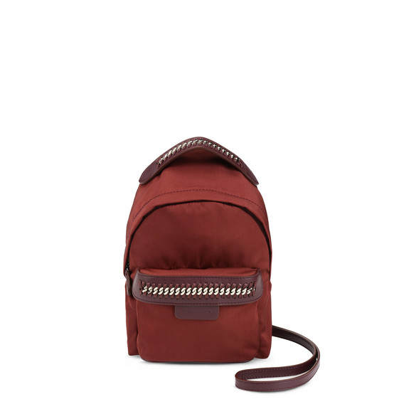 Burgundy Falabella GO Mini Backpack