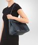 BOTTEGA VENETA MEDIUM TOTE BAG IN KRIM DENIM EMBROIDERED NAPPA LEATHER Tote Bag Woman ap