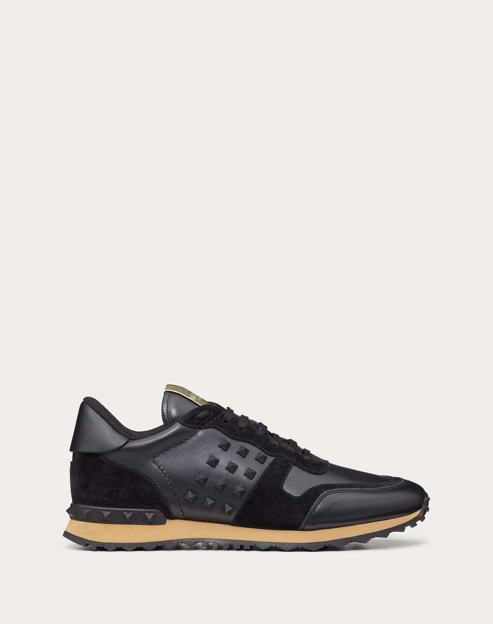 VALENTINO 磨面效果 单色 附品牌标志 圆头鞋头 系带 橡胶鞋底 铆钉  45351083pa