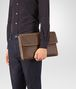 BOTTEGA VENETA DOCUMENT CASE IN DARK CALVADOS INTRECCIATO VN Backpack Man ap