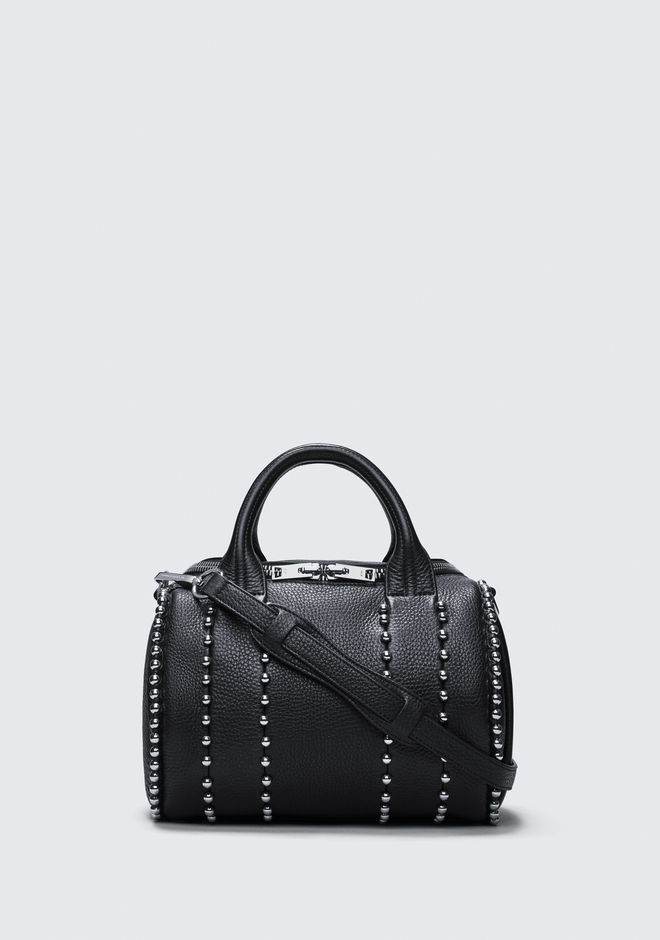 ALEXANDER WANG rockie-rocco EXCLUSIVE BALL STUD ROCKIE IN MATTE BLACK WITH RHODIUM