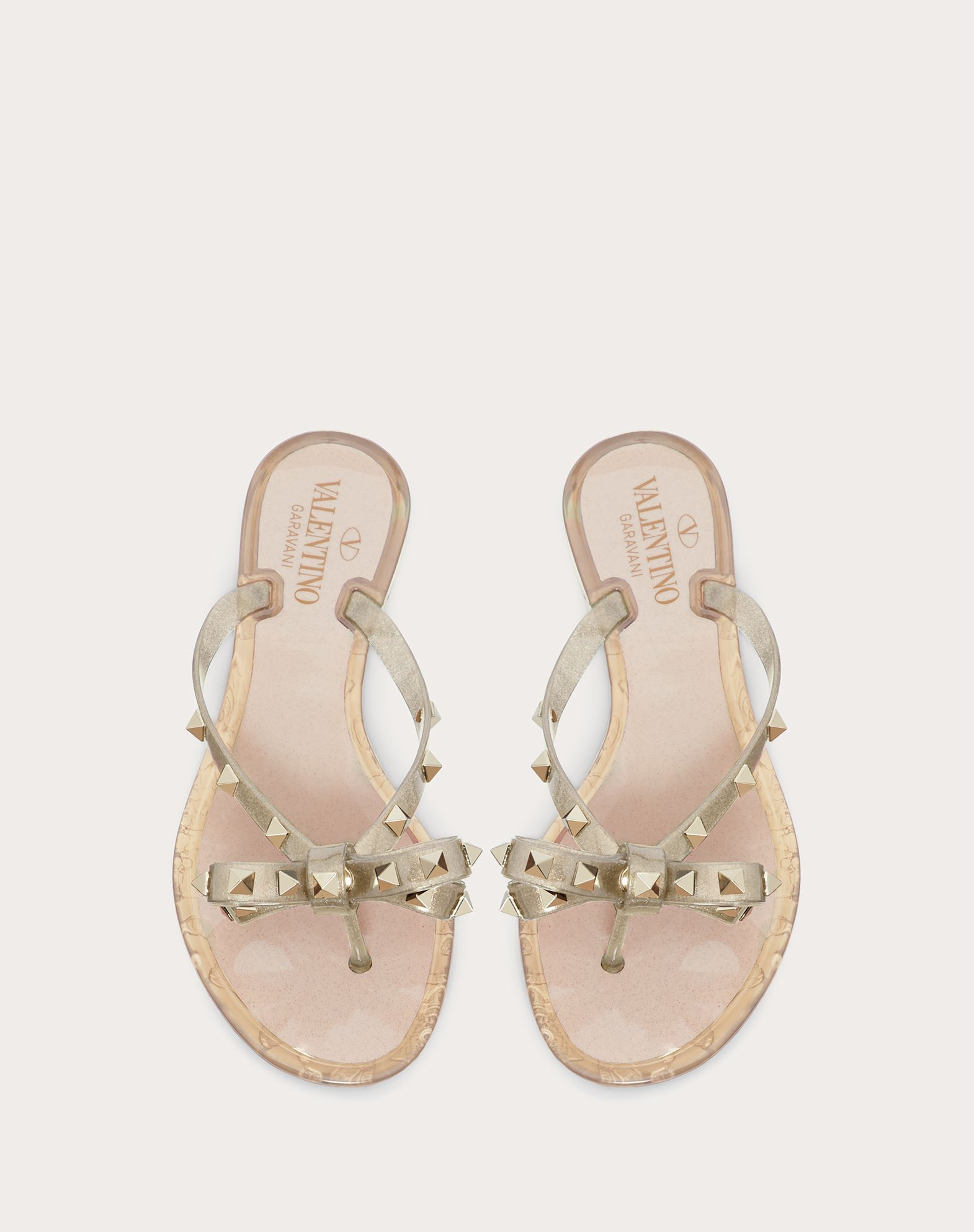 VALENTINO Contrasting applications Rubber sole Round toeline  45351358qm
