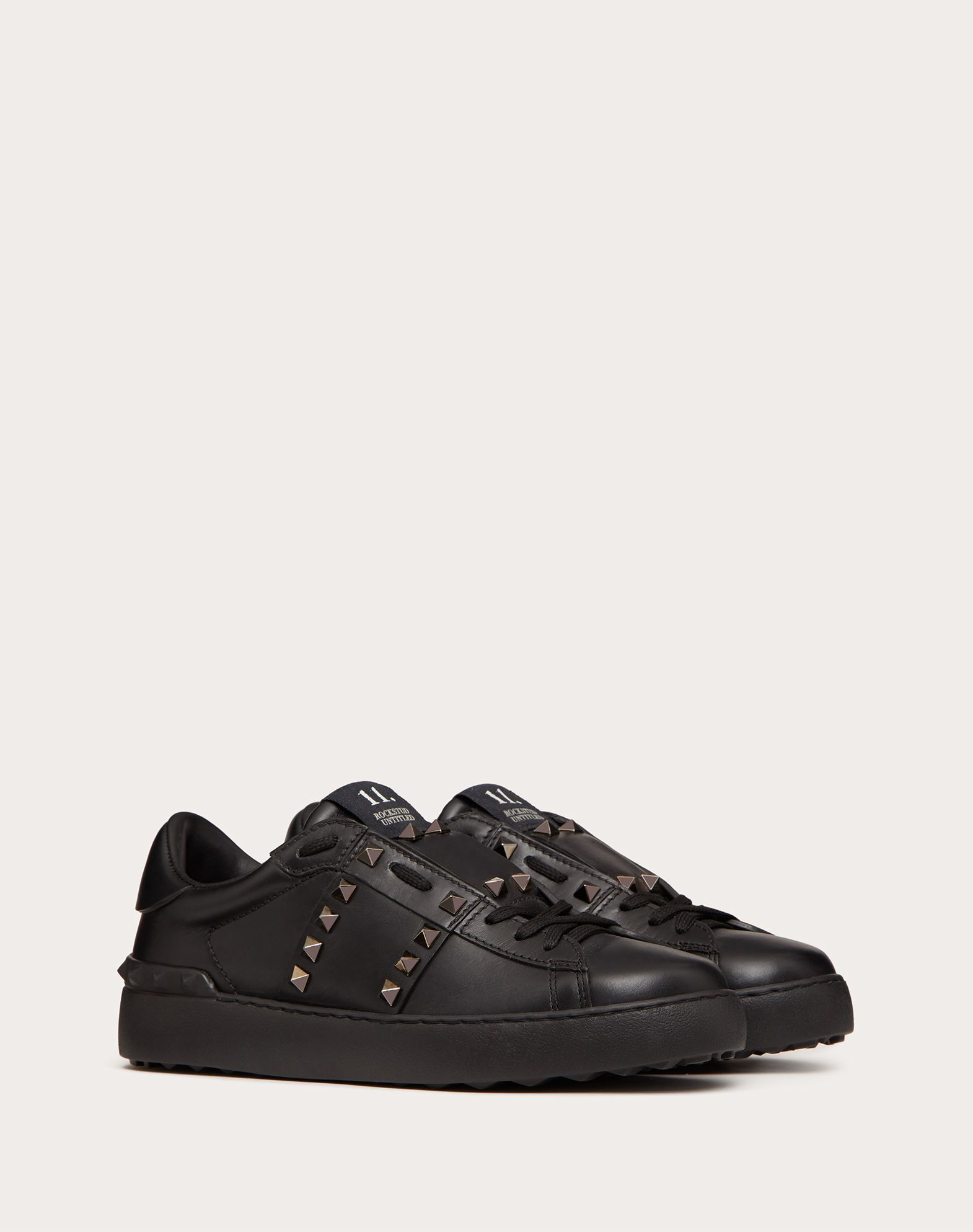 VALENTINO GARAVANI Rockstud Untitled Noir Sneaker LOW-TOP SNEAKERS D r
