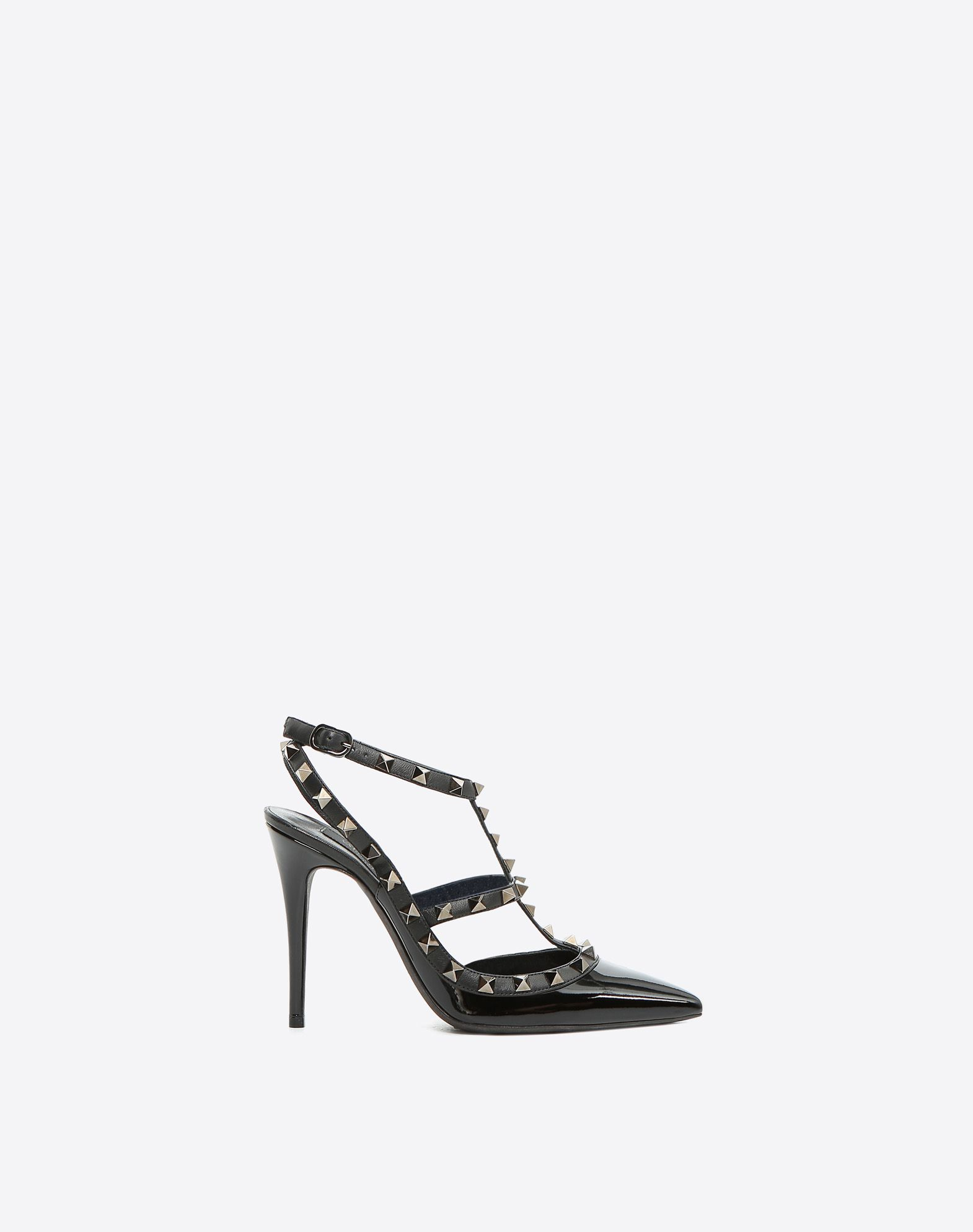 VALENTINO Varnished effect Contrasting applications Buckle Narrow toeline  Leather sole 45351373qm