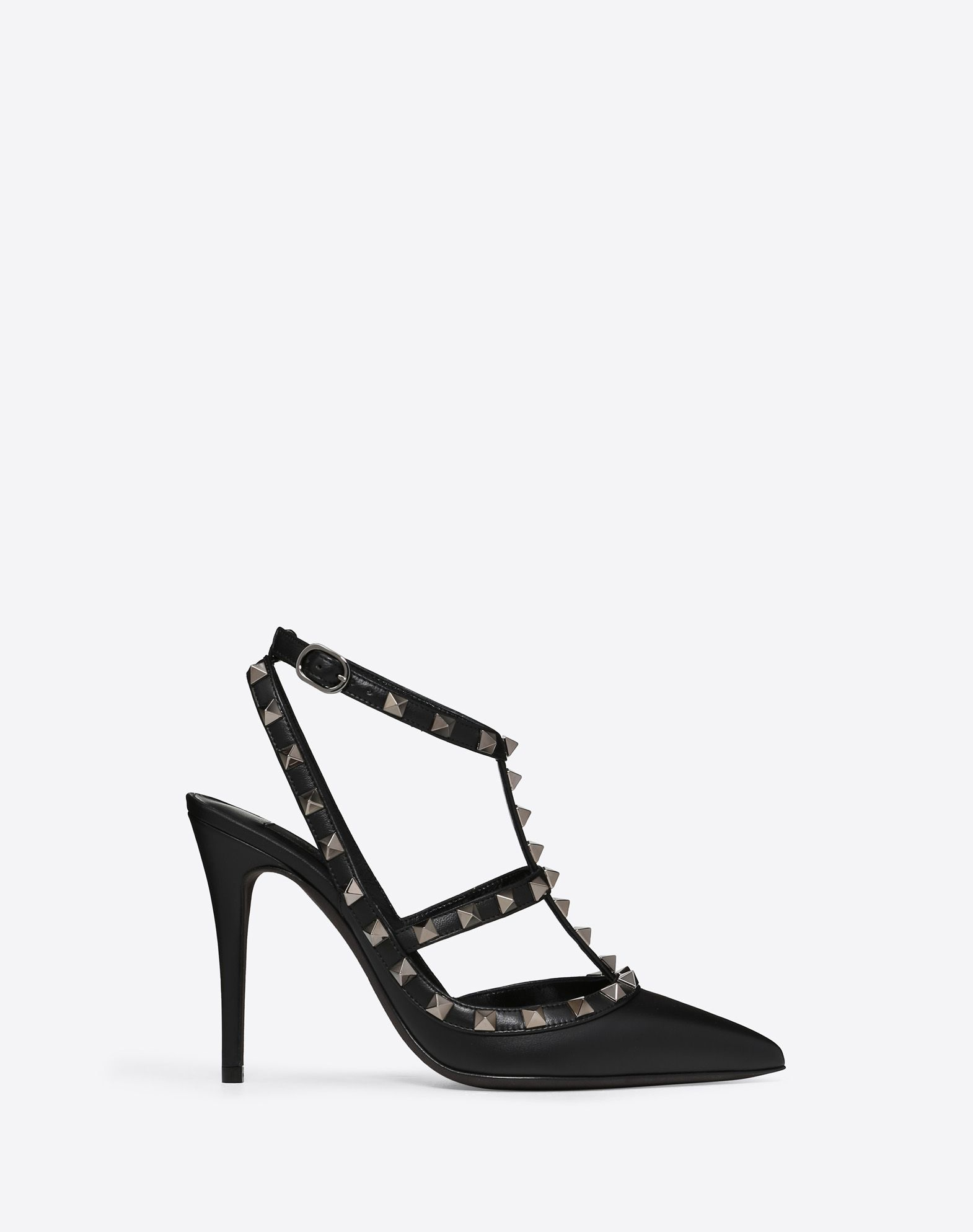 VALENTINO Contrasting applications Buckle Narrow toeline Leather sole  45351403vq