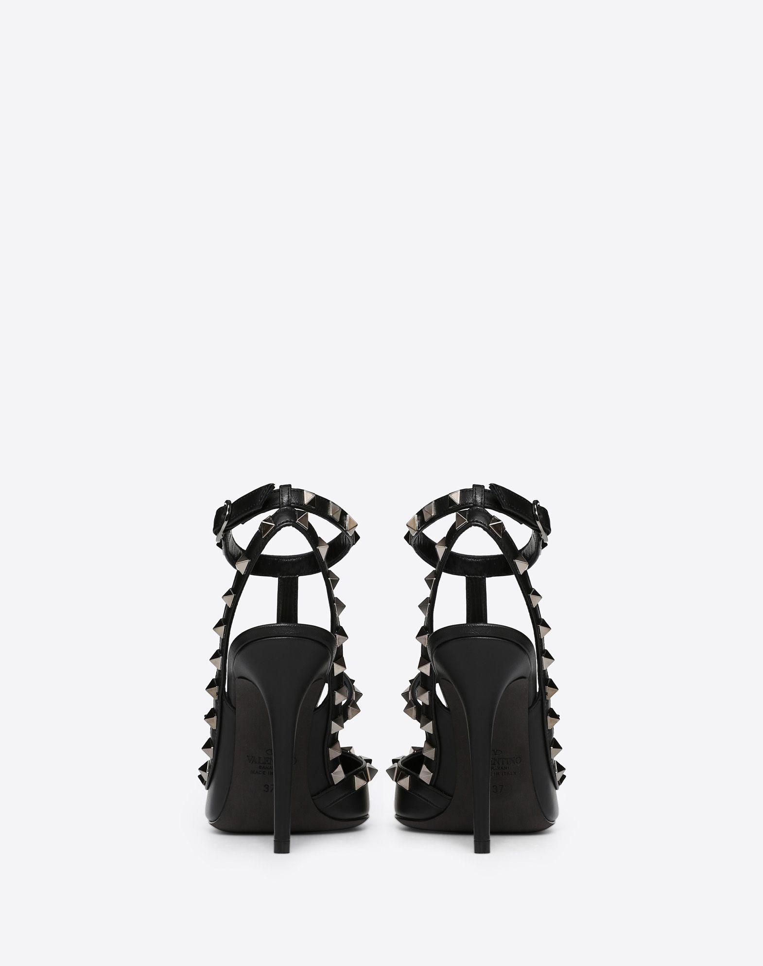 VALENTINO GARAVANI Rockstud Noir Ankle Strap Pump HIGH HEEL PUMPS D d