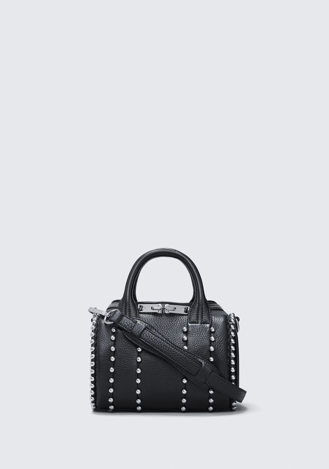 ALEXANDER WANG rockie-rocco EXCLUSIVE BALL STUD MINI ROCKIE IN MATTE BLACK WITH RHODIUM