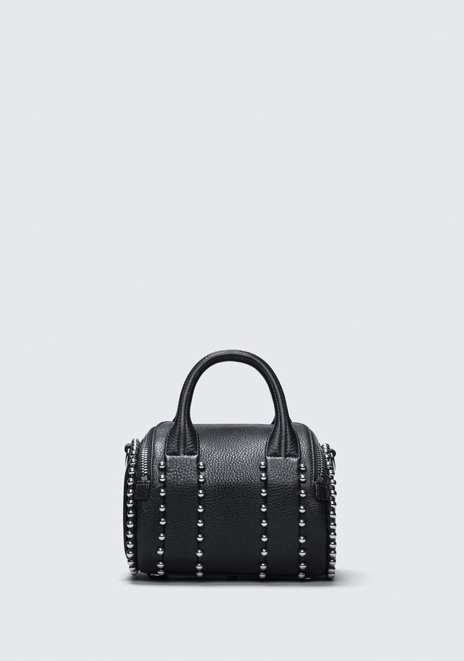 ALEXANDER WANG BALL STUD MINI ROCKIE IN MATTE BLACK WITH RHODIUM  Sac porté épaule Adult 12_n_d