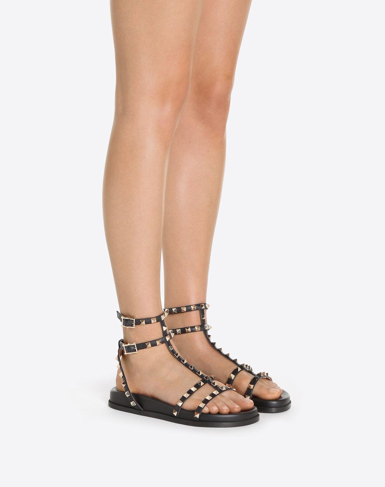 VALENTINO GARAVANI Rockstud Low Sandal Sandal D a