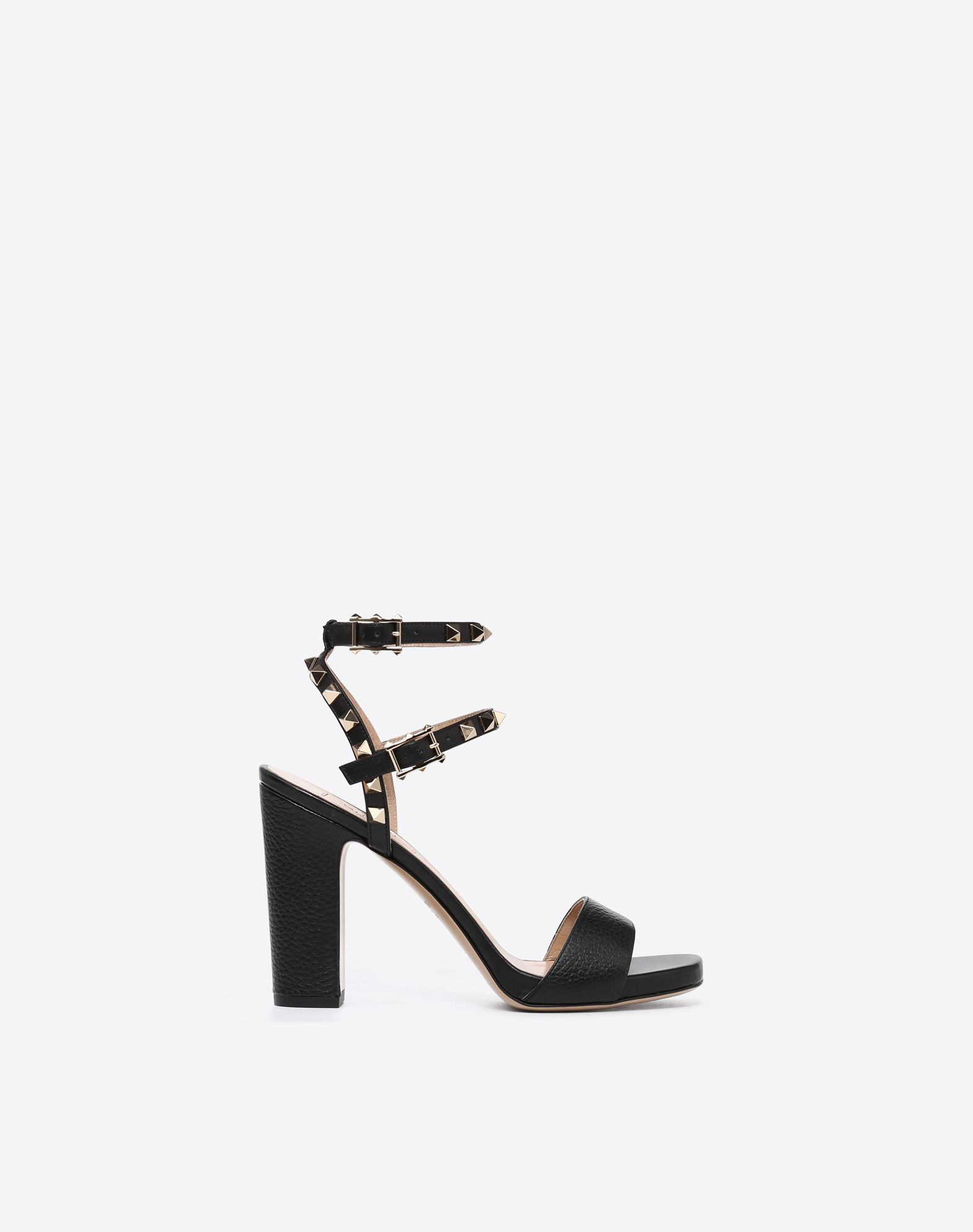 VALENTINO Studs Solid colour Leather sole Buckle  45351646ta