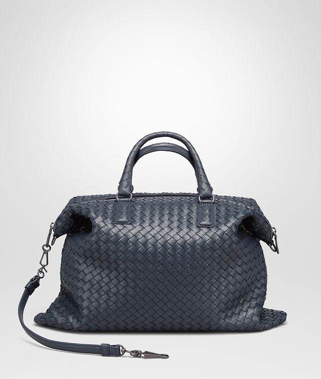 BOTTEGA VENETA MEDIUM CONVERTIBLE BAG IN DENIM INTRECCIATO NAPPA Top Handle Bag D fp