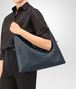 BOTTEGA VENETA BORSA CONVERTIBLE MEDIA IN INTRECCIATO NAPPA DENIM Borsa a Mano D lp