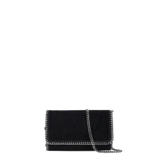 Black Velvet Falabella Cross Body Bag