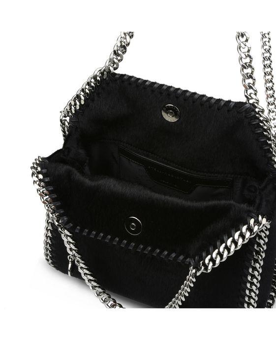 STELLA McCARTNEY Black Falabella Alter Pony Mini Tote Mini Bags D g