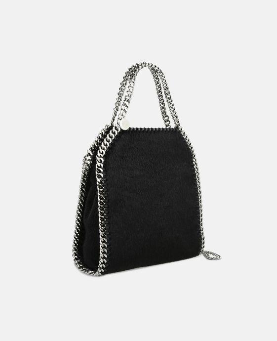 STELLA McCARTNEY Black Falabella Alter Pony Mini Tote Mini Bags D h