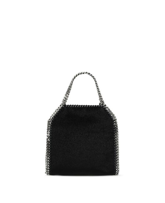 STELLA McCARTNEY Black Falabella Alter Pony Mini Tote Mini Bags D i