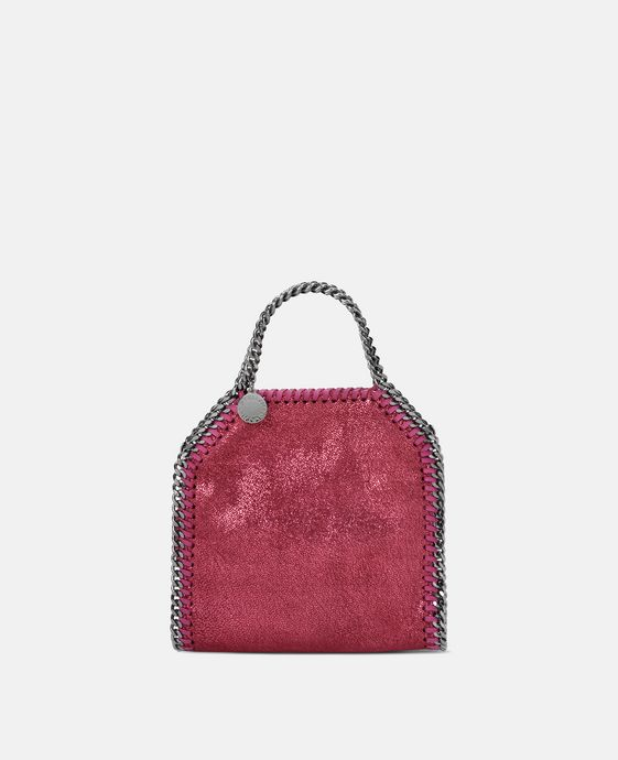 Hot Pink Falabella Shiny Dotted Chamois Tiny Tote