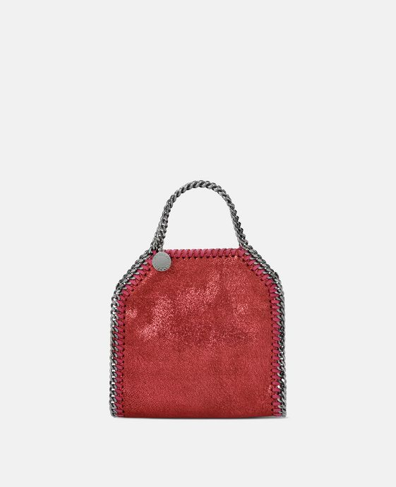 Indian Red Falabella Shiny Dotted Chamois Tiny Tote