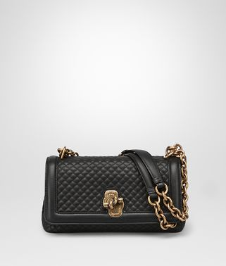NERO EMBROIDERED CALF OLIMPIA KNOT BAG