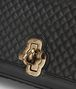 BOTTEGA VENETA OLIMPIA KNOT IN NERO EMBROIDERED CALF Shoulder or hobo bag D ep