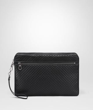 DOCUMENT CASE IN NERO EMBROIDERED CALF