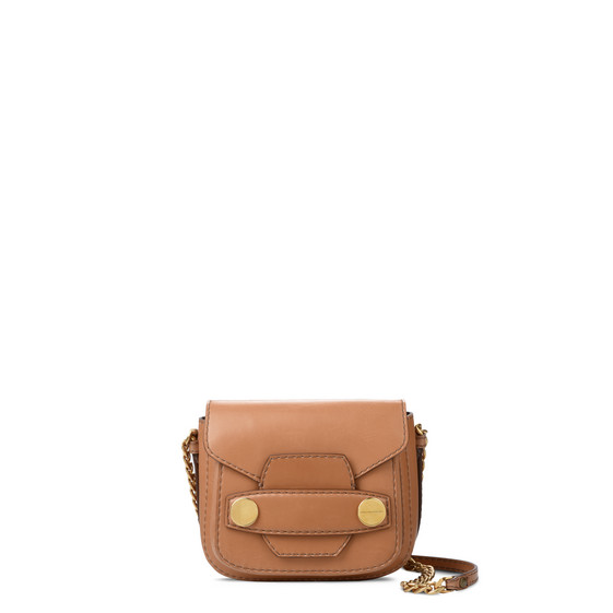 Camel Stella Popper Shoulder Bag