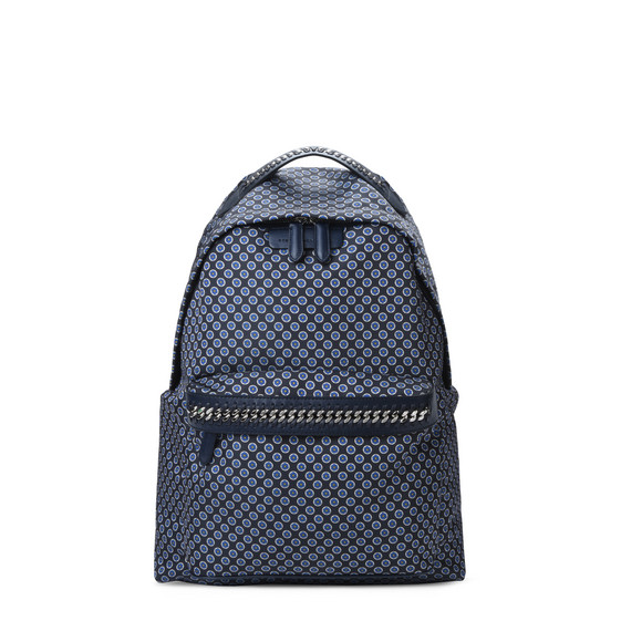Blue Tie Print Falabella GO Backpack