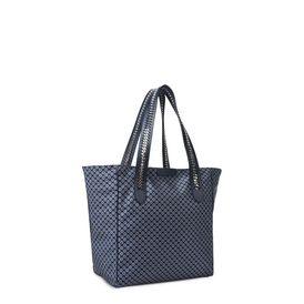 Blue Tie Print Falabella GO Shoulder Bag
