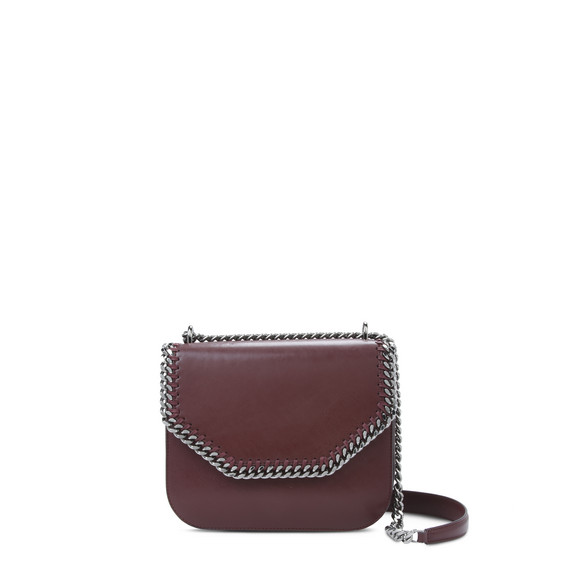 Burgundy Falabella Box Shoulder Bag
