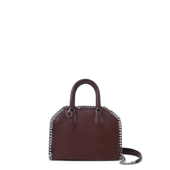 Burgundy Falabella Box Mini Top Handle Bag