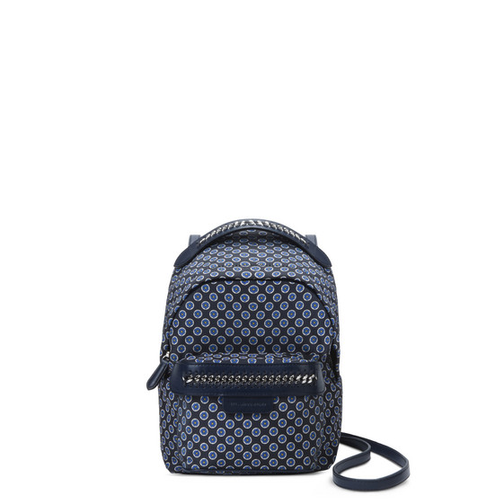 Blue Tie Print Falabella GO Mini Backpack