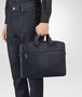 BOTTEGA VENETA BRIEFCASE IN PRUSSE INTRECCIO AURELIO CALF, EMBROIDERY DETAIL Business bag Man ap