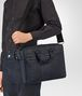 BOTTEGA VENETA BRIEFCASE IN PRUSSE INTRECCIO AURELIO CALF, EMBROIDERY DETAIL Business bag U lp