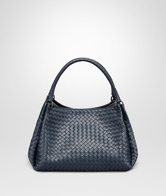 BOTTEGA VENETA PARACHUTE BAG IN DENIM INTRECCIATO NAPPA Shoulder or hobo bag D fp