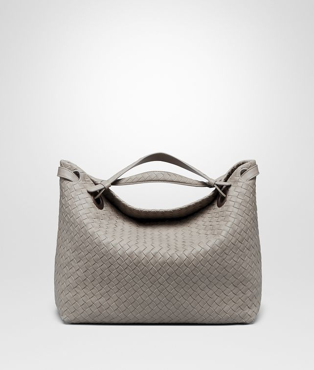 BOTTEGA VENETA MEDIUM SHOULDER BAG IN FUME' INTRECCIATO NAPPA Shoulder or hobo bag D fp