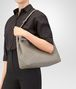 BOTTEGA VENETA MEDIUM SHOULDER BAG IN FUME' INTRECCIATO NAPPA Shoulder or hobo bag D lp