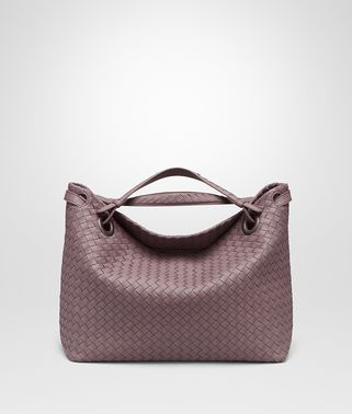 MEDIUM SHOULDER BAG IN GLICINE INTRECCIATO NAPPA