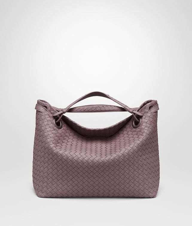 BOTTEGA VENETA MEDIUM SHOULDER BAG IN GLICINE INTRECCIATO NAPPA Shoulder or hobo bag D fp