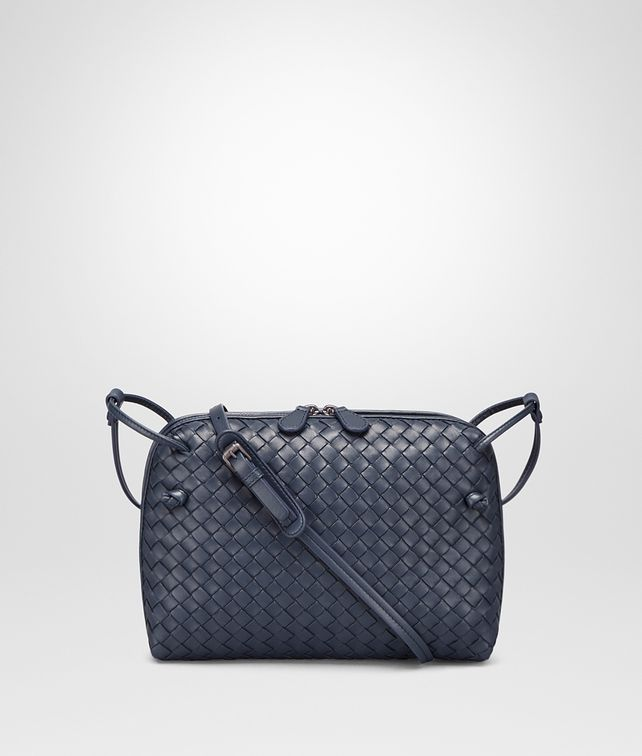 BOTTEGA VENETA MESSENGER BAG IN DENIM INTRECCIATO NAPPA Crossbody bag D fp