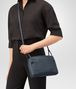BOTTEGA VENETA MESSENGER BAG IN DENIM INTRECCIATO NAPPA Crossbody bag D ap
