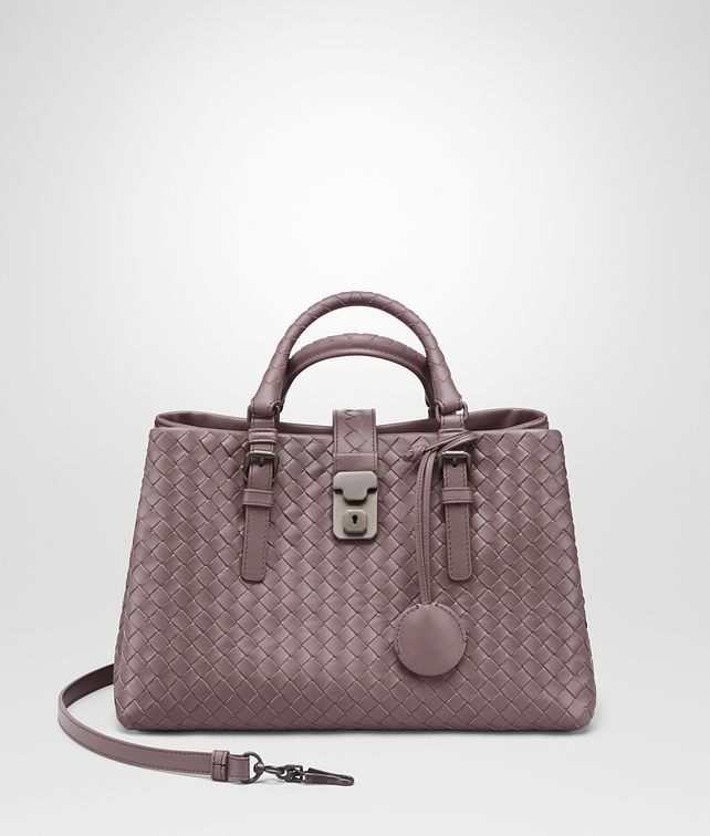 BOTTEGA VENETA SMALL ROMA BAG IN GLICINE INTRECCIATO CALF Top Handle Bag Woman fp