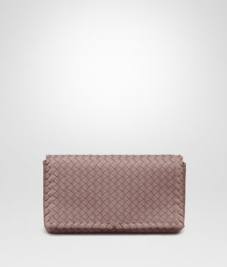 CLUTCH BAG IN DESERT ROSE INTRECCIATO NAPPA