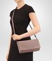 BOTTEGA VENETA MEDIUM CLUTCH BAG IN DESERT ROSE INTRECCIATO NAPPA LEATHER Clutch Woman lp