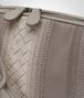 BOTTEGA VENETA MESSENGER BAG IN FUME' STEEL EMBROIDERED NAPPA, INTRECCIATO DETAILS Crossbody bag Woman ep
