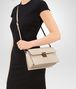 BOTTEGA VENETA SMALL MESSENGER BAG IN CAMEO INTRECCIATO NAPPA LEATHER Crossbody bag Woman ap