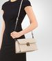 BOTTEGA VENETA SMALL MESSENGER BAG IN CAMEO INTRECCIATO NAPPA LEATHER Crossbody bag Woman lp